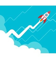 The rocket takes off vector image vector image