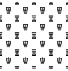 Trash basket pattern simple style vector