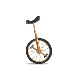 Unicycle One Wheel Bicycle Cartoon Flat Style vector image