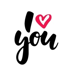 Valentine s day lettering isolated vector