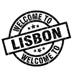 Welcome to lisbon black stamp vector