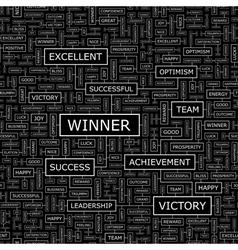 WINNER vector image