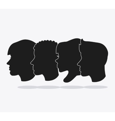 People head silhouette design vector