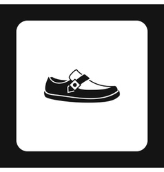 Mens moccasin icon simple style vector