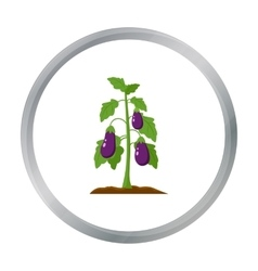 Eggplant icon cartoon single plant icon from the vector