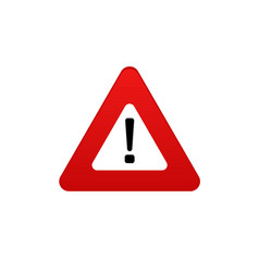 danger icon danger sign symbol vector image