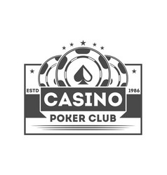poker club vintage isolated label vector image