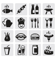 Set barbecue vector
