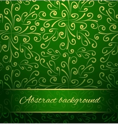 Oriental abstract background in green and gold vector