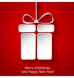 Modern xmas greeting card vector