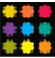 halftone spots vector image