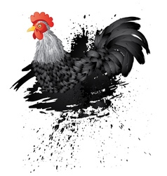 Grunge rooster2 vector