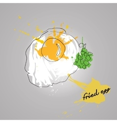 Egg with color splash vector