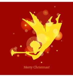 Christmas card angel vector