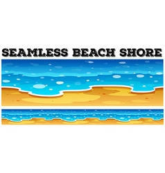 Seamless beach shore at daytime vector
