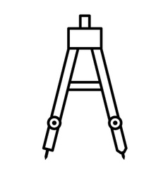 Drawing compass isolated icon design vector