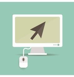 Arrow on screen vector image