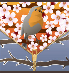Background on a theme of seasons change spring vector