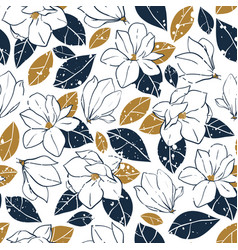 botanical seamless pattern in vintage style vector image