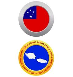 Button as a symbol samoa vector