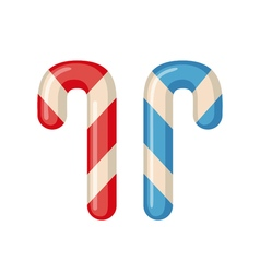 Candy cane icon in flat style vector