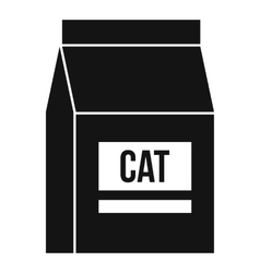 Cat food bag icon simple style vector