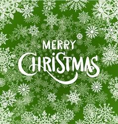 Christmas typographic background set merry vector