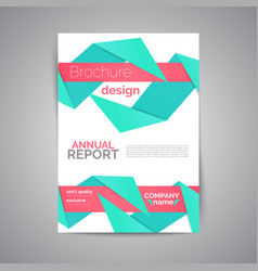 commercial annual report template abstract vector image