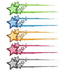 Decoration design with stars in many colors vector image vector image