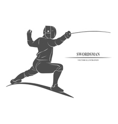 Fencing Player Athletes vector image vector image