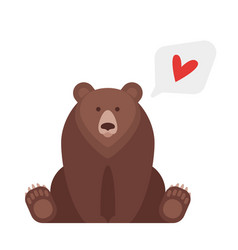 Flat style of canadian bear vector