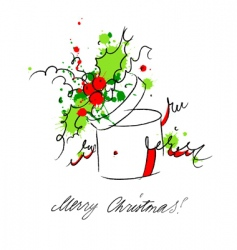 gift box with holy vector image vector image