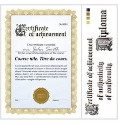 Gold certificate Template Vertical vector image vector image