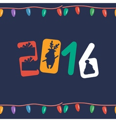 Greeting seamless pattern for New 2016 Year vector image