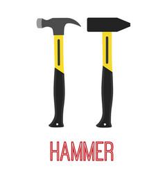 hammer construction tool work equipment vector image vector image