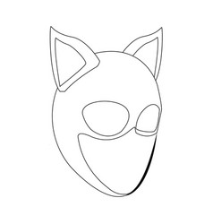 Hat cat ladies mask ears fashion vector