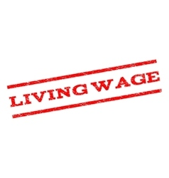 Living wage watermark stamp vector
