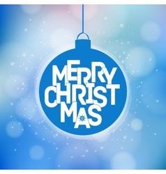 Merry christmas magical card design vector