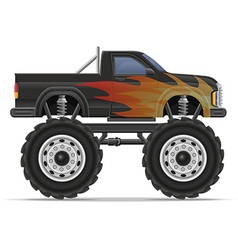 monster truck 01 vector image