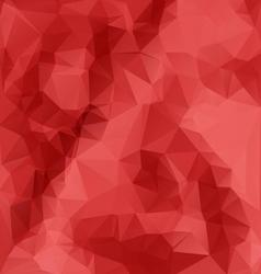 Red polygonal mosaic background vector image