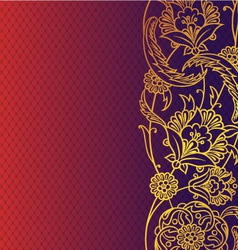 Rich floral background vector image