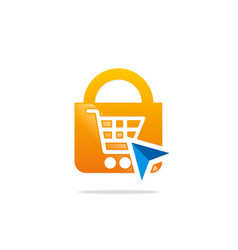 save online shopping logo vector image vector image