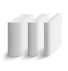 Set of blank vertical books cover template vector