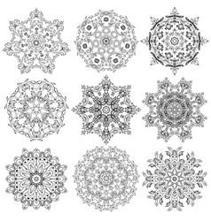 Set of circular ornaments vector
