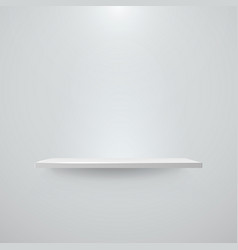 Shelf with light and shadow on empty white wall vector