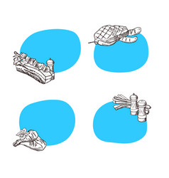 stickers with place for text with hand vector image vector image