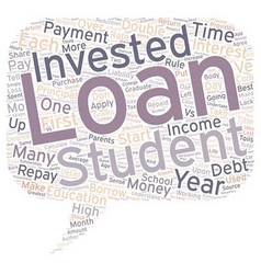 Student Loans Investment Or Liability text vector image vector image
