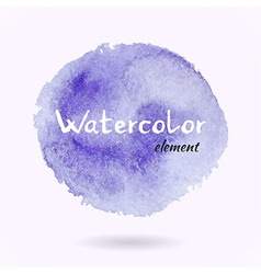 Watercolor purple element vector