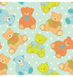 Teddy bear seamless pattern vector