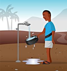 watertap in African village vector image